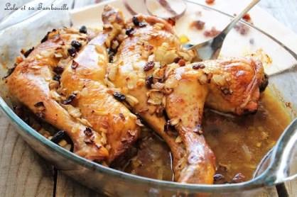 Cuisses de poulet au miel & raisins secs (4)