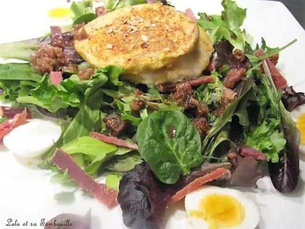 """Salade de chèvre chaud en """"pain perdu"""""""