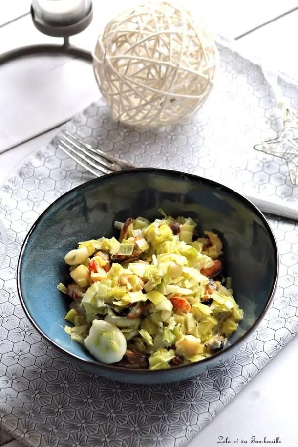 Fondue de poireaux aux fruits de mer & curry