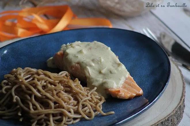 Dos de saumon au curry