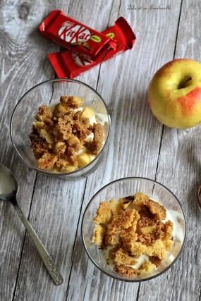 Verrines de pommes & kit kat (3)