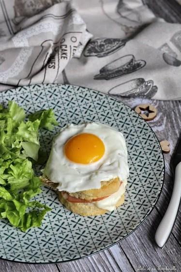 Croques Madame au bacon & mozzarella (1)