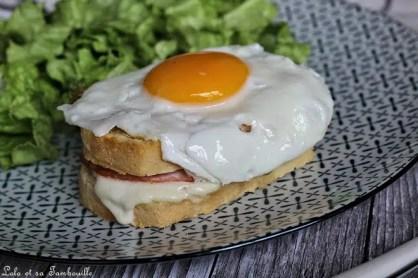 Croques Madame au bacon & mozzarella (4)