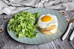 Croques Madame au bacon & mozzarella (6)