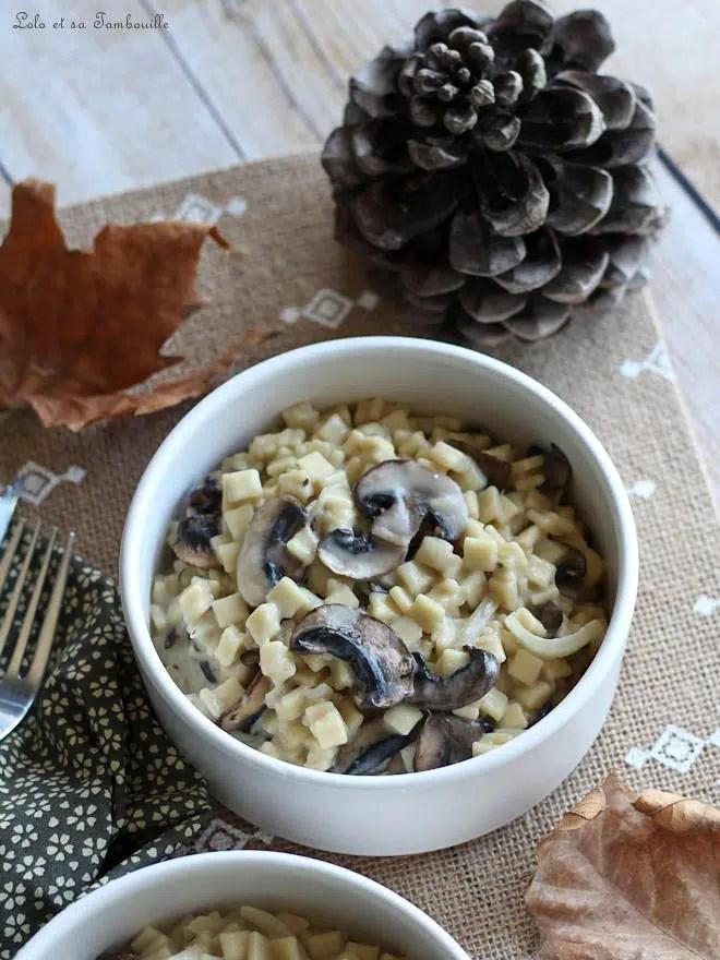 crozets champignons, recette de crozets