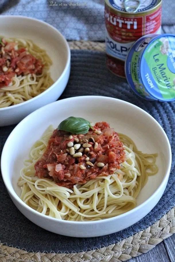Mijoté de thon à la tomate