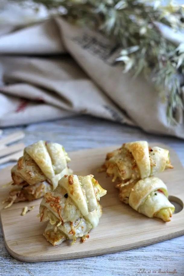 Mini croissants à la savora & jambon