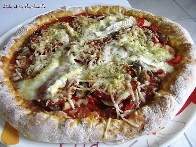 Pizza crousti-fondante