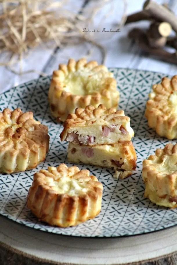 Quichettes sans pâte aux lardons & emmental