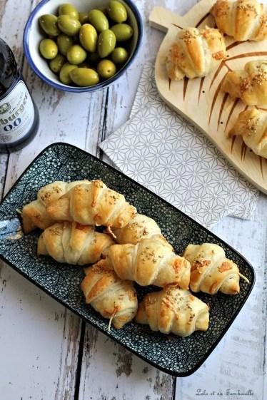 Croissants feuilletés aux lardons (1)