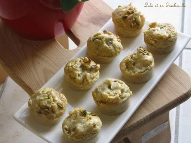 Bouchées au parmesan, noisettes & pistaches