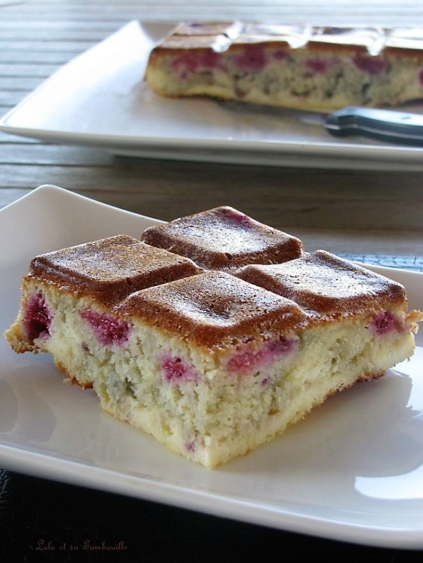Gâteau Cheesecake aux framboises & amande