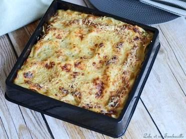 Lasagnes aux courgettes & lardons (3)