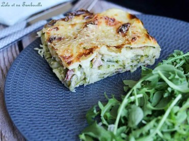 Lasagnes aux courgettes & lardons (6)