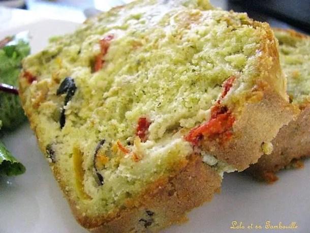 Cake au pesto & légumes grillés