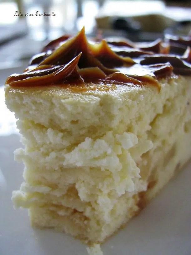 Gâteau de fromage blanc aux pommes & miel