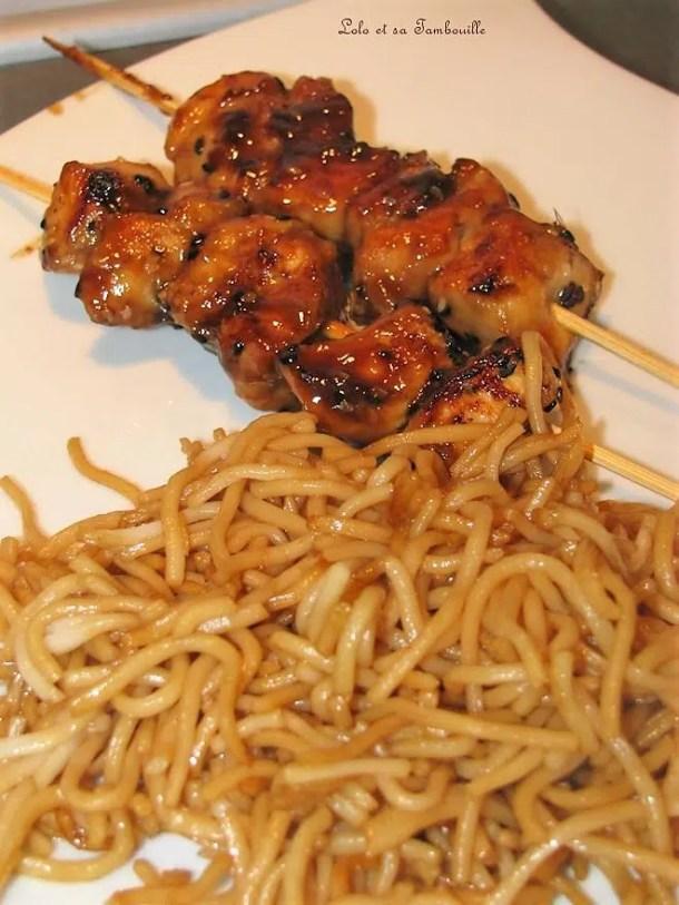 Brochettes de poulet Yakitori Tanoshi