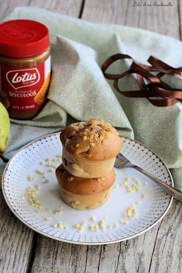 Muffins poires & pâte de spéculoos (3)