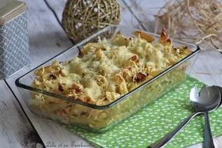 Gratin de pâtes au saumon & poireaux (2)