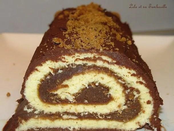 Gâteau roulé à la pralinoise & spéculoos