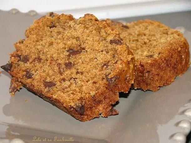 Cake à la compote de pruneaux & pépites de chocolat