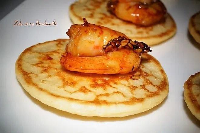 Crevettes marinées au miel