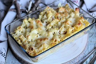 Gratin de pâtes fondant lardons & mozzarella (2)