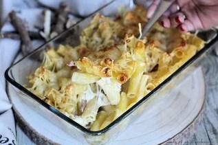 Gratin de pâtes fondant lardons & mozzarella (6)