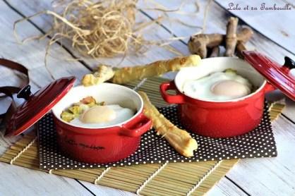 Oeufs cocottes aux poireaux & bacon (2)