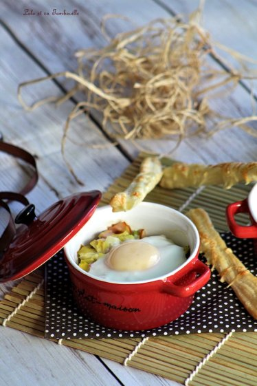 Oeufs cocottes aux poireaux & bacon (3)