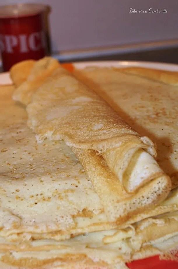 Pâte à crêpes salées ou sucrées