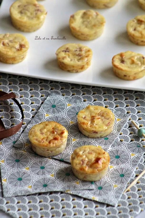 Bouchées au jambon & fromage