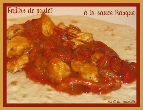 Fajitas de poulet à la sauce Basque