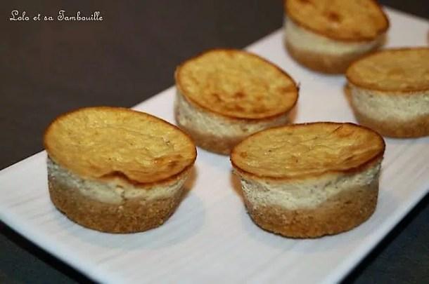 Mini cheesecake à l'olivade verte & parmesan