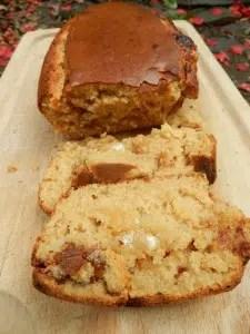 Cake à la ricotta, pâte de spéculoos et chocolat blanc Nanou