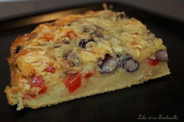 Gâteau salé aux haricots rouges & poivron