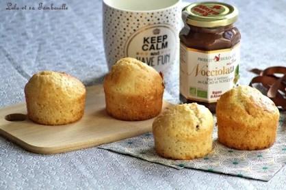 Muffins au lait de coco & pâte à tartiner (2)