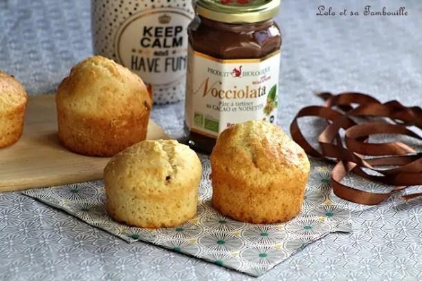 Muffins au lait de coco & Nocciolata