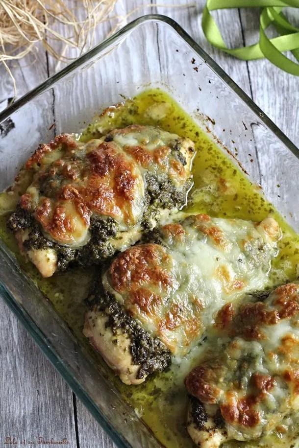 Poulet au pesto & mozzarella