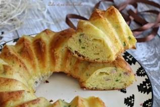 Cake à la mozzarella & lardons (4)