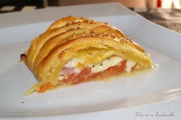 Feuilleté à la tomate & mozzarella