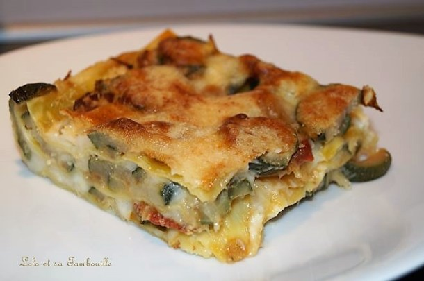 Lasagnes aux courgettes & chorizo
