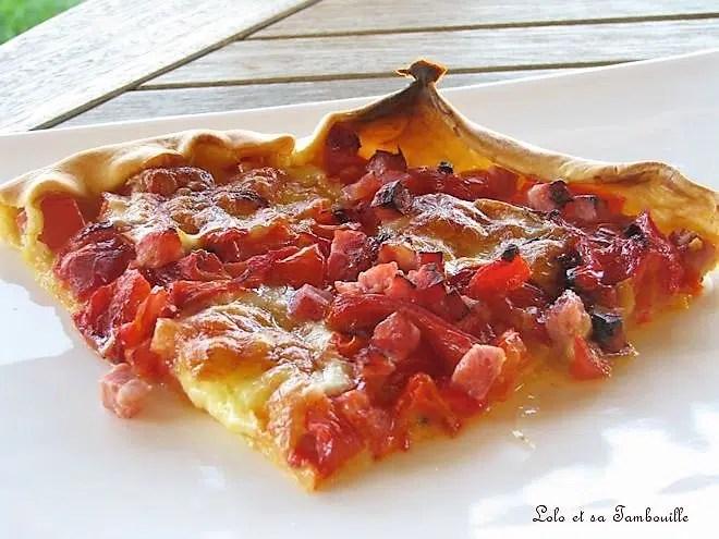 Tarte aux légumes & mozzarella