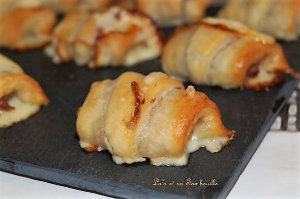 Croissants à la tomme fraîche & jambon