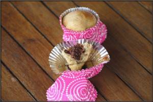 muffins au mait de coco coeur de nutella afaurore