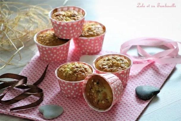 Gâteaux rapides aux pommes & pépites de nougatine