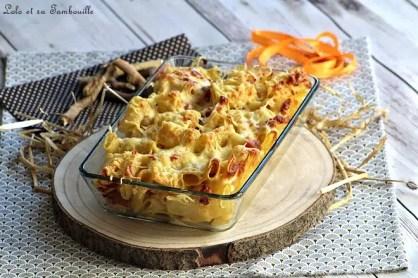 Gratin de pâtes crème de parmesan & lardons (8)