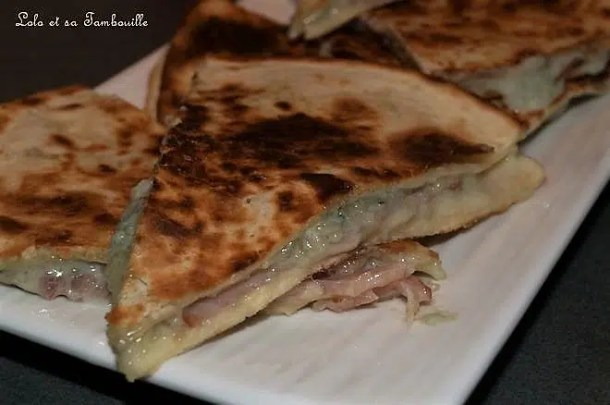 Quesadillas au bleu & bacon