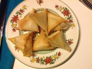 samossas de boeuf aux épices et mozzarella nik