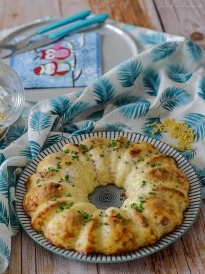 Clafoutis de pâtes au jambon & emmental (3)